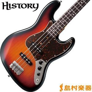 HISTORY ヒストリー TH-BJ4/R 3TS ジャズベース〔サークルフレッティングシステム〕〔日本製〕 〔THBJ4/R〕 shimamura
