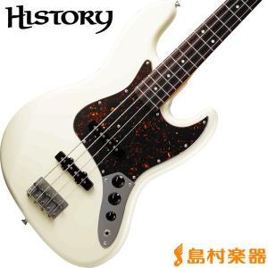 HISTORY ヒストリー TH-BJ4/R VWH(ビンテージホワイト) ジャズベース〔サークルフレッティングシステム〕〔日本製〕 〔THBJ4/R〕 shimamura