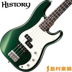 HISTORY ヒストリー TH-BP4/R CAG(キャンディアップルグリーン) プレシジョンベース 〔プレベ〕〔サークルフレッティングシステム〕〔日本製〕 〔THBP4/R〕 shimamura