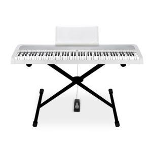 〔予約受付中!10月上旬頃のお届け予定〕KORG B1WH X型スタンドセット 電子ピアノ 88鍵盤 〔コルグ〕 〔オンラインストア限定〕|shimamura