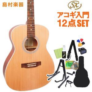 女性にもおすすめ アコースティックギター初心者セット 12点セット SX SO204 NAT ナチュラル フォークタイプ 〔オンラインストア限定〕|shimamura