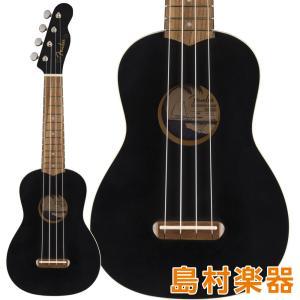 Fender フェンダー Venice Soprano Ukulele Black Walnut ソ...