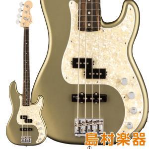 Fender フェンダー American Elite Precision Bass Ebony Fingerboard Satin Jade Pearl Metallic エレキベース|shimamura