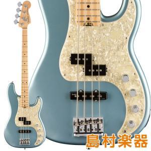 Fender フェンダー American Elite Precision Bass Maple Fingerboard Satin Ice Blue Metallic エレキベース|shimamura