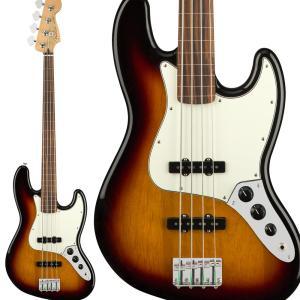 Fender フェンダー Player Jazz Bass Fretless, Pau Ferro Fingerboard, 3-Color Sunburst ジャズベース フレットレス|shimamura
