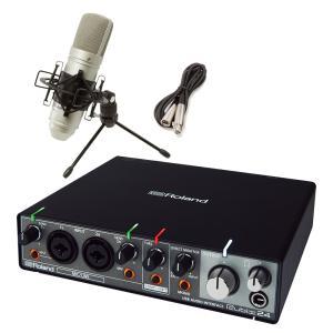 Roland ローランド rubix24 TM-80高音質配信・録音セット TASCAMコンデンサー...