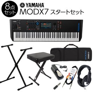 YAMAHA ヤマハ 76鍵盤 シンセサイザー MODX7 スタート8点セット 〔フルセット〕〔背負える専用ケース付〕|shimamura