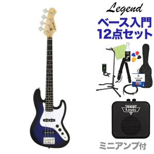 LEGEND レジェンド LJB-MINI Blue Black Sunburst ベース 初心者1...