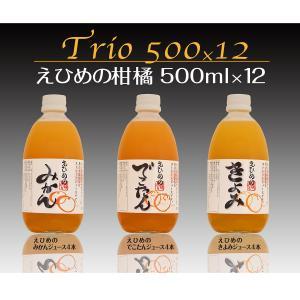 えひめの柑橘ストレートジュース詰め合わせ3種 500ml【12本入】|shimanami