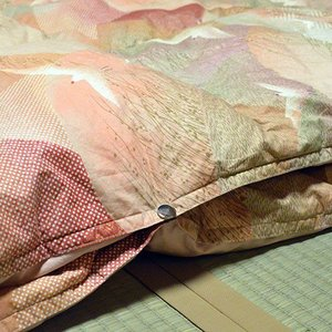 柏屋旅館オリジナル二枚合わせ羽毛掛け布団、2枚重ねで冬も暖か shimaonsen 03