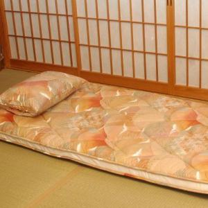旅館で大好評のオリジナル敷きふとん 「体圧分散多層構造」形|shimaonsen
