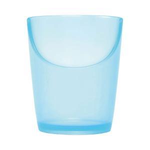 ぷにゅっとぴったんコップ ブルー PC-13 (岡部洋食器製作所) (自助食器)|shimayamedical