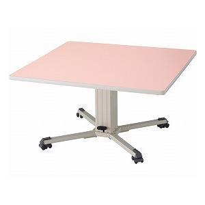 昇降テーブル 小 ピンク (大和金属製作所) (施設用テーブル・いす関連品)|shimayamedical