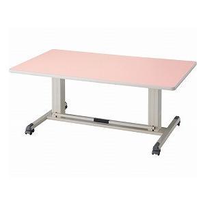 昇降テーブル 大 アイボリー (大和金属製作所) (施設用テーブル・いす関連品)|shimayamedical