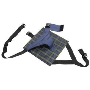座面付キーパー セルフ脱着タイプ ネイビーチェック 4011 (特殊衣料) (車いす用ベルト)|shimayamedical