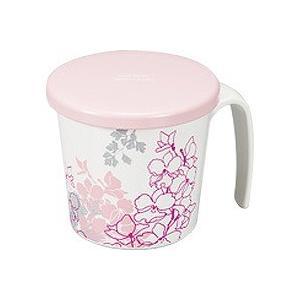 カトレア 蓋付らくらくカップ ピンク 72390 (カノー) (食器類)|shimayamedical