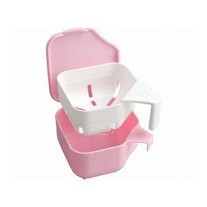 デントクリアカップ 入れ歯洗浄用 ピンク 239-003990-00 (小久保工業所) (口腔器材)|shimayamedical