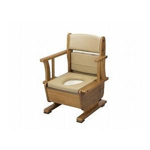 さわやかチェアPT ひじ掛け自在タイプ 標準 8220 (ウチヱ) (木製トイレ)|shimayamedical