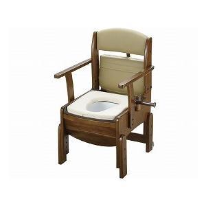 木製トイレ きらくコンパクト やわらか便座 18520 (リッチェル) (木製トイレ)|shimayamedical