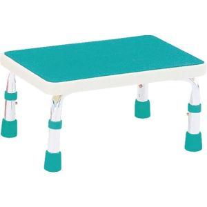 浴用ステップ(吸盤付) ライトグリーン 7910 (島製作所) (浴槽踏み台)|shimayamedical