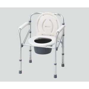 ナビス 折りたたみ便器椅子 NC616 (アズワン(As-one)) (ポータブルトイレ)|shimayamedical