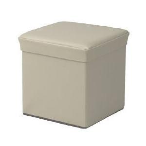 ボックススツール 収納ボックス スツール オットマン スツール リビングチェア (ベージュ)
