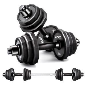 ダンベル スチール製 10kg 2個セット/合計20kgダンベル 2個セット 10キロ 10kg バーベル  鉄アレイ 筋トレ  ジム 自宅 ウェイト トレーニング Wout マニュアル shimi-store
