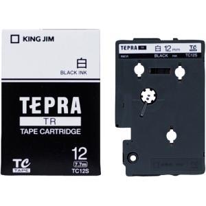 キングジム テプラTRテープTC12S白に黒文字12mm shimiz