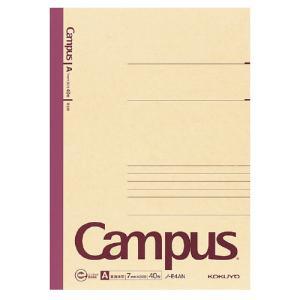ネコポス コクヨ 再生紙キャンパスノートA罫 普通横罫 セミB5 6号 罫幅7mm 40枚 ノ−E4AN|shimiz