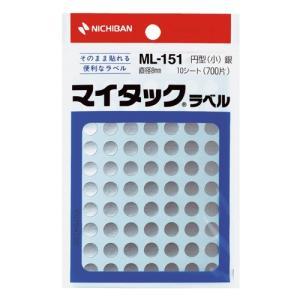 ニチバン マイタックカラーラベルML−151銀8mm shimiz