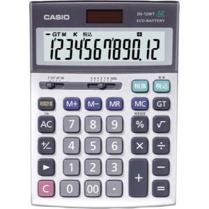 カシオ計算機 デスク型特大表示実務電卓 DS−12WT−N DS−12WT−N|shimiz