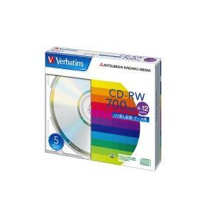 ●三菱化学 CD-RW 700MB 1枚×5(5...の商品画像