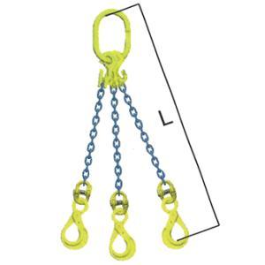 マーテック(株) チェーンスリング(長さ調整機能付) 3本吊りセット TG3-BK 8-1.5m (5.1トン) shimizu-kanamono