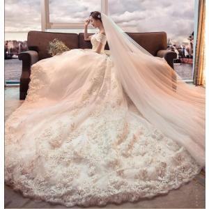 ウエディングドレス 結婚式ドレス 花嫁ウェディングドレス  ウェディングドレス プリンセスドレス エ...