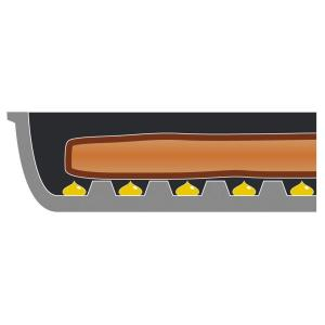 アーネスト フライパン グリルパン ガラス蓋付 NEW ベルフィーナ A-76159