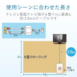 DXアンテナ 分波器 2K 4K 8K 対応 BS/CS-IF出力 入力端子間通電 ノイズに強い出力ケーブル一体型(2m/0.5m) MBU|shimizunet004