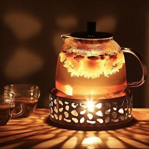 TINYPONY ティーウォーマー ステンレス キャンドルスタンド1個付属 保温 お茶 紅茶 コーヒー キャンドルウォーマー ティーポットス|shimizunet004