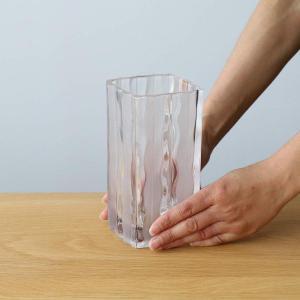 アデリア ガラス 花器 ルアール クリア 最大9.2×高17.2cm 日本製 P-6496 shimizunet004