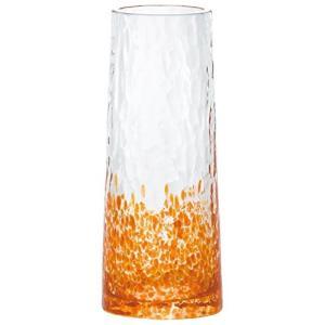 アデリア ガラス 花器 オレンジ 最大6×高15cm 津軽びいどろ 花瓶 ミニ花器 日本製 F-49044 shimizunet004