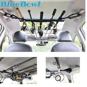 BlueBowl 2列車 3列車対応 アシストグリップ 取付 車載 車内 車用 ロッドホルダー ロッドキャリー ロッド キーパー ロッドスタ shimizunet004