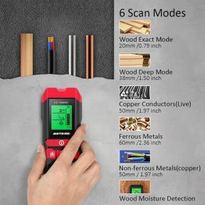 Meterk 下地センサー 下地探し 木材水分計 デジタル探知機 高感度センサー スタッド 金属/A...