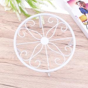 WINOMO 花台 フラワーラック 鉢スタンド 植木鉢台 アイアン おしゃれ 室内室外 ホワイト shimizunet004