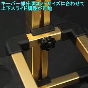 アルミ製 高級オリジナルロッドスタンド 12本掛け パープル (120050-p) shimizunet004