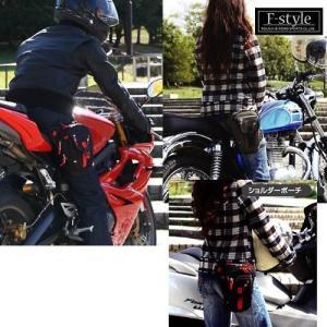 ラフアンドロード(ROUGH&ROAD) バイク用ホルスターバッグ F-ホルスター ブラック/レッド...