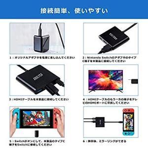 Analysa Nintendo Switch Type-C to HDMI 変換アダプター 3-i...