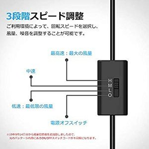 Mauknci USBファン 12cm 2台1組 2連USBファン 静音 5V 3段階風量調整 PS...
