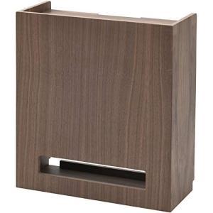 山善 ケーブルボックス 幅35×奥行15×高さ39.5cm スリム 棚板高さ調節可能 天然木(タモ材...