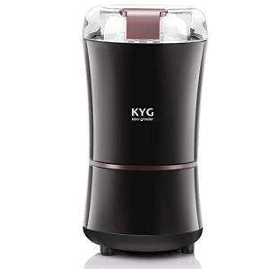 KYG 電動コーヒーミル 電動ミル コーヒーミル コーヒーグラインダー 300Wハイパワー 急速挽く 均一な粉末 304ステンレス製 安全安|shimizusyouten01
