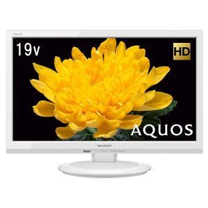 シャープ 19V型 液晶 テレビ AQUOS LC-19P5-W ハイビジョン 外付HDD対応(裏番組録画) ホワイト 2017年モデル|shimizusyouten01