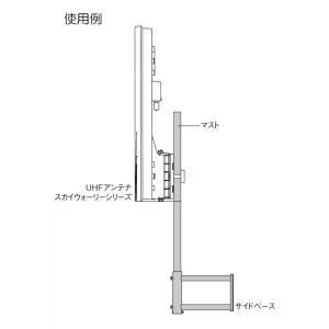 マスプロ電工 サイドベース UHFアンテナ(1台)設置用 適合マスト22~25.4mm SB22S shimizusyouten01